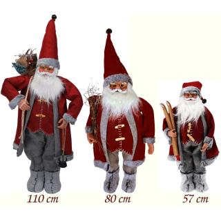 Weihnachtsmann Figur Rot/Grau - Nikolaus XXL Dekofigur ...