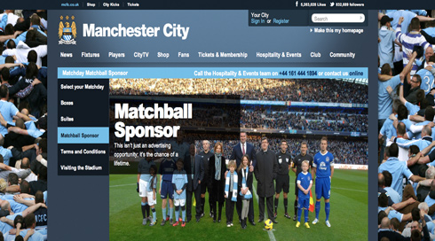 ICP Networks sponsor Man City