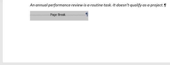 Page Break Code
