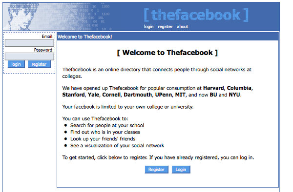 The Facebook in 2004