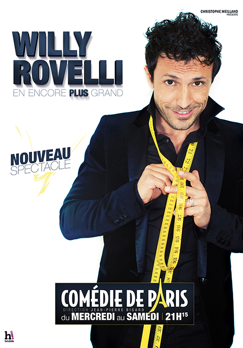 Affiche Willy Rovelli_Comédie de Paris
