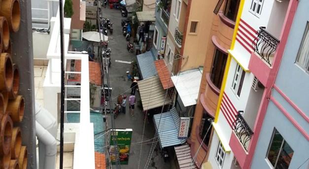 vue du balcon de la chambre 402