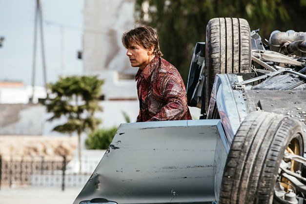 Tom Cruise plays Ethan Hunt in Mission: Impossible - Rogue Nation from Paramount Pictures and Skydance Productions.