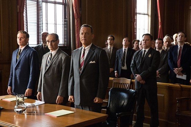Tom Hanks is Brooklyn lawyer James Donovan, Mark Rylance is Rudolf Abel, and Billy Magnussen is Doug Forrester in the dramatic thriller BRIDGE OF SPIES, directed by Steven Spielberg.