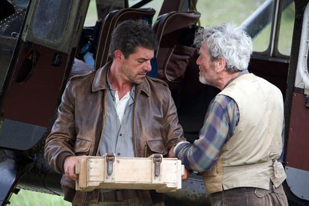 Film Belle et Sébastien, l'aventure continu... Réalisé par Christian DUGAY. 1er rencontre Pierre. Aérodrome de Sollières - 07/08/2014
