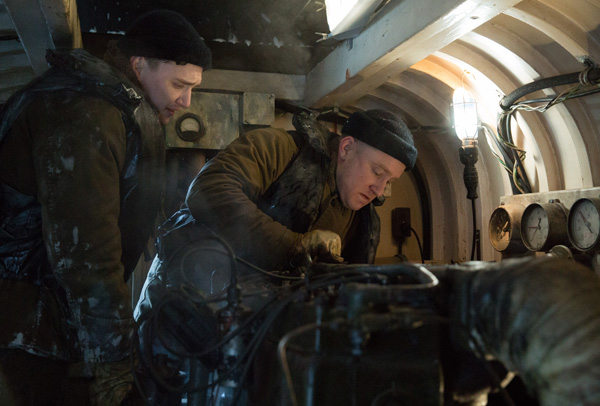 Kyle Gallner is Andy Fitzgerald and Ben Foster is Richard Livesey in Disney's THE FINEST HOURS, the heroic action-thriller based on the extraordinary true story of the most daring rescue in the history of the Coast Guard.