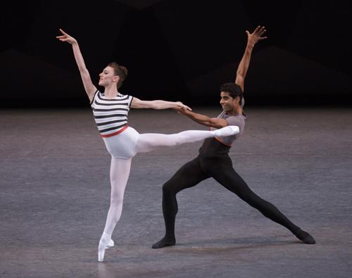 Tiler Peck and Amar Ramasar in Everywhere We Go Choreography by Justin Peck Music by Sufijan Stevens New York City Ballet Credit Photo: Paul Kolnik studio@paulkolnik.com nyc 212-362-7778