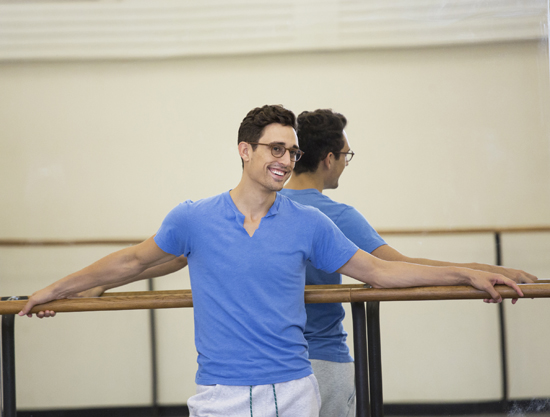 Justin Peck Rehearsal New York City Ballet Credit Photo: Paul Kolnik studio@paulkolnik.com nyc 212-362-7778