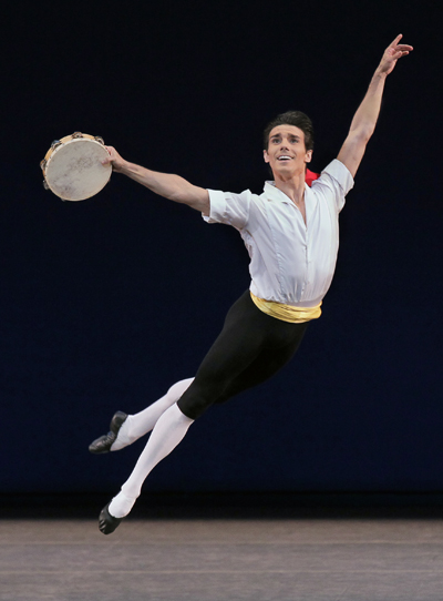 Joaquin de Luz in Tarantella Choreography George Balanchine © The George Balanchine Trust New York City Ballet Credit Photo: Paul Kolnik studio@paulkolnik.com nyc 212-362-7778