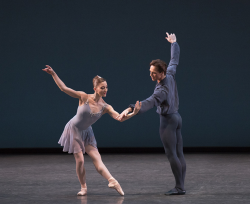 Ashley Bouder and Gonzalo Garcia in Sonatine Choreography George Balanchine © The George Balanchine Trust New York City Ballet Credit Photo: Paul Kolnik studio@paulkolnik.com nyc 212-362-7778