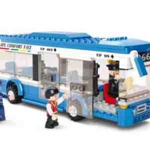 Jongensspeelgoed Sluban lijnbus blauw