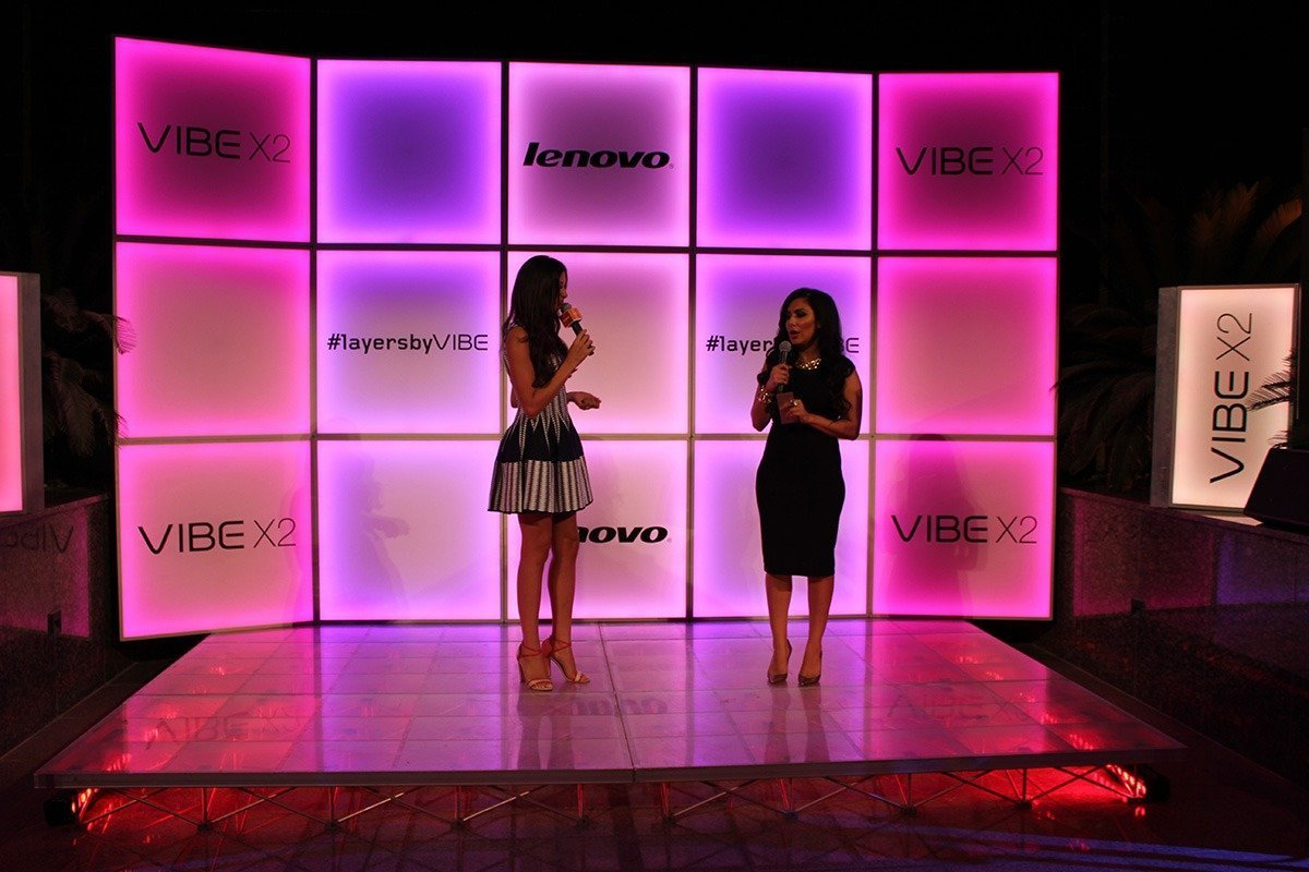 Onstage International Books Huda Kattan for Exclusive Lenovo Product Launch