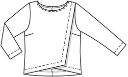 dessin technique blouse 115 burda 04-2014 devant