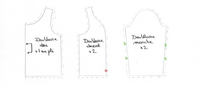 Dessiner doublure veste/manteau - étape 4 suite - méthode B sans plis - on sunday mornings
