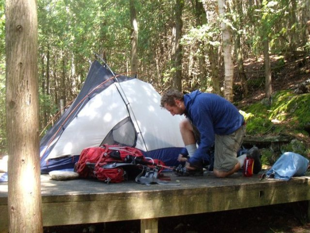 Tent Platform - Back country camping - Bruce Peninsula