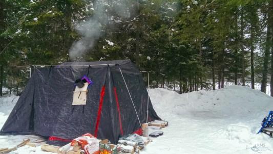 Winter camping Algonquin Mew Lake