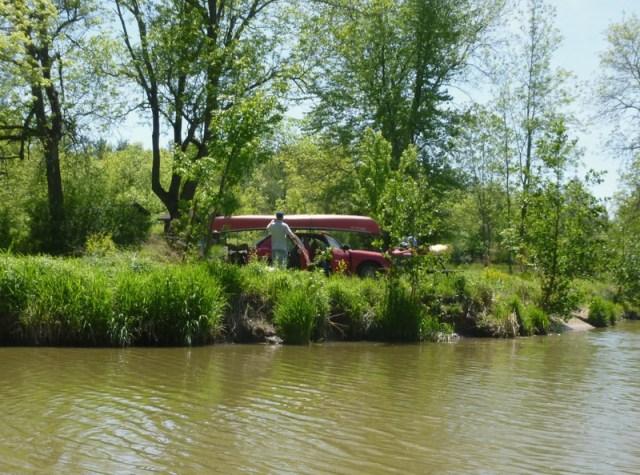 Sulphur Creek camping area -quiet and radio-free on Bying Island