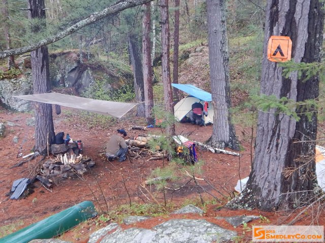 Backcountry Campsite at Carcajou Bay, Algonquin