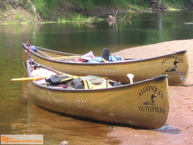picture of canoes, Algonquin