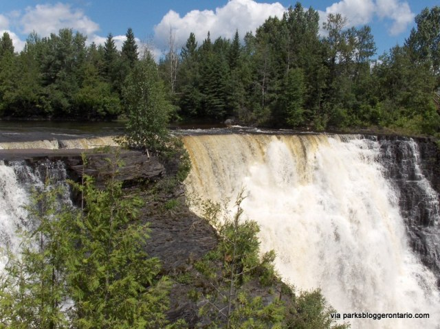 According to legend, the falls sometimes reveal the figure of an Ojibway princess who sacrificed herself at Kakabeka