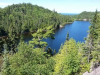Orphan Lake as seen from trail lookout, Lake Superior Provincial Park