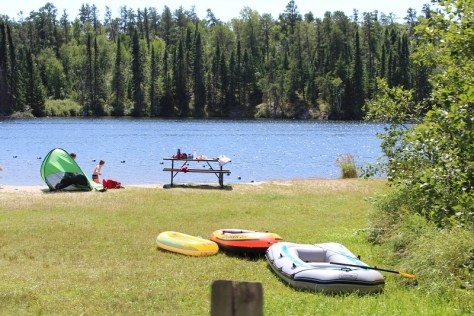 Beach on Dogtooth Lake_Rushing River Provincial Park
