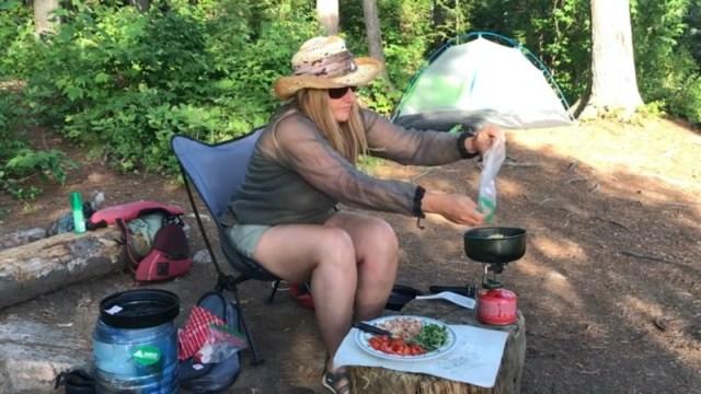 Backcountry camping recipe - Prosciutto Basil Tomato Pasta