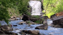 Upper Credit River waterfall.