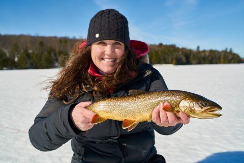 ice fishing at Silent Lake