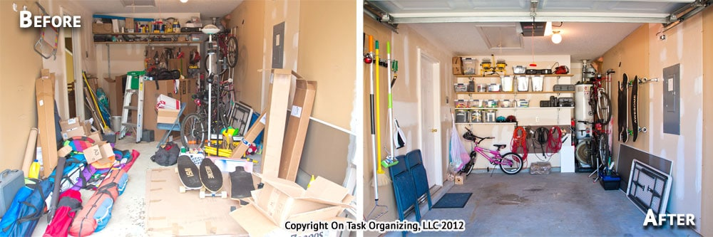 Organize To Fit A Car In The Garage On Task Organizing