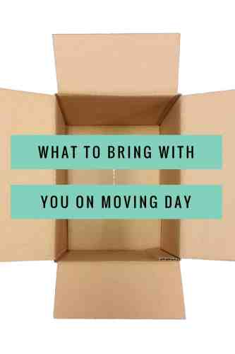 Title- what to bring with you on moving day