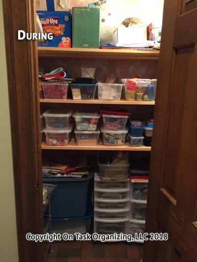 Craft Closet During Organizing