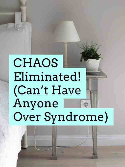 C.H.A.O.S. Eliminated! (Can't Have Anyone Over Syndrome) title image
