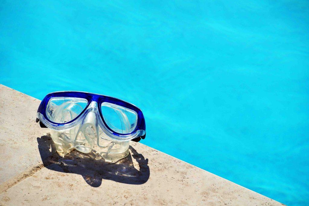 Duikbril zwembad Zuid Evia Griekenland