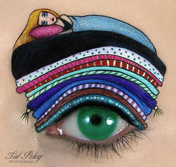 بالصور الرسم على العيون إبداع من نوع آخر
