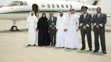 هنادي اول طيارة سعودية مع الوليد بن طلال