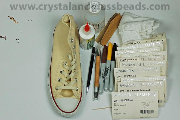 كيف تضيفين تصميم الليبورد ( الفهد المنقط ) بكريستالات ملونة على حذائك ! (3)
