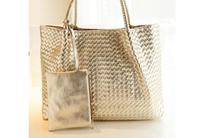 حقيبة الرفاهية بدمج من الفضي و الذهبي سوياً ! (7)