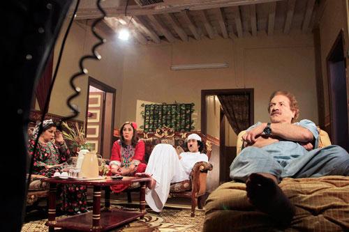 مشهد درامي من مسلسل 'خميس بن جمعة'