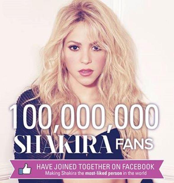 """لقب أكثر شخص """"محبوب"""" على موقع فيس بوك، بحصولها على 100 مليون """"لايك"""" على صفحتها الرسمية."""