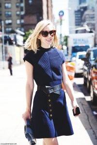 New_York_Fashion_Week_Spring_Summer_15-NYFW-Street_Style-Belted_dress-