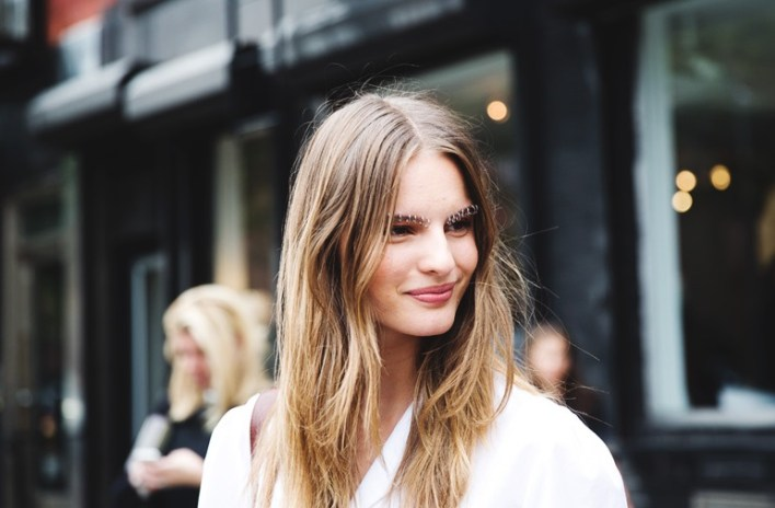 New_York_Fashion_Week_Spring_Summer_15-NYFW-Street_Style-Model-Tilda_Lindstam-Piercing-EyeBrowns_Rodarte-