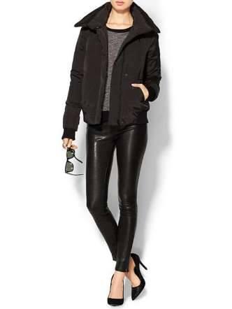 معطف أسود قصير