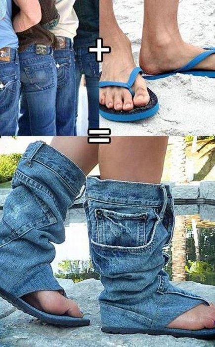 وضعه على الشبشب ليصبح مثل الحذاء او الصندل