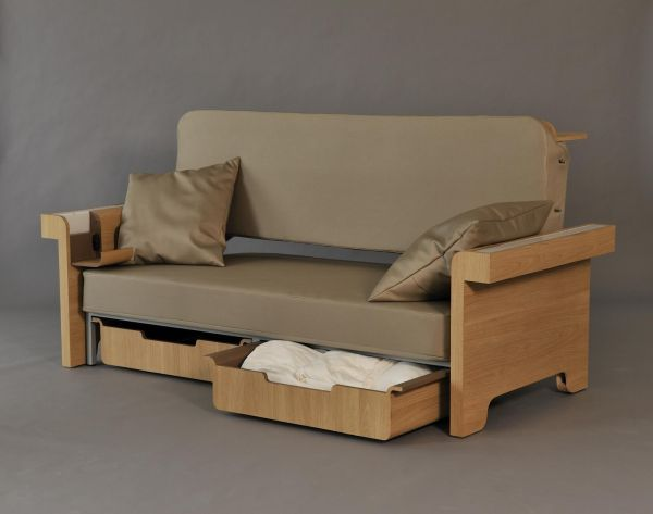 أريكة يمكن استخدامها كمكتب