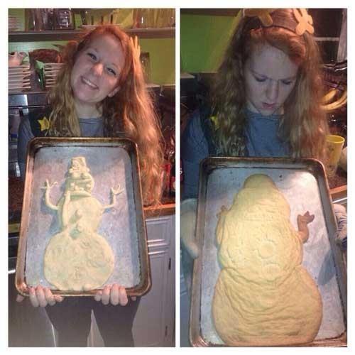 كعكة رجل الثلج