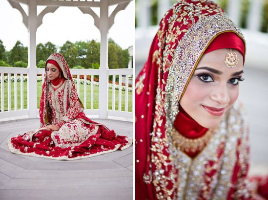 islamic wedding hijab style