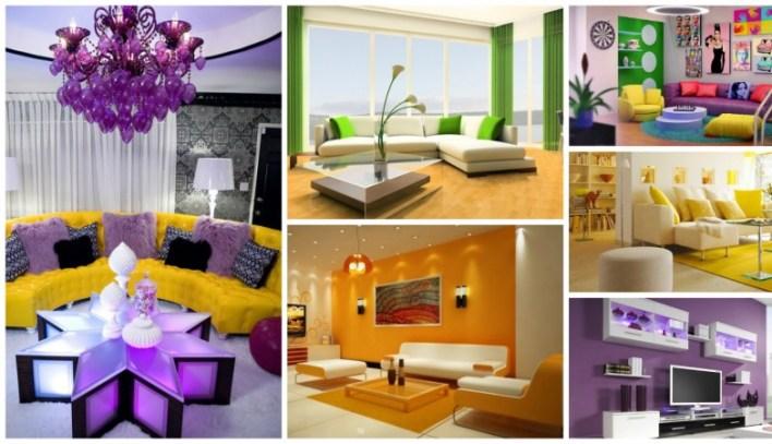 غرف معيشة ملونة بتصاميم عصرية