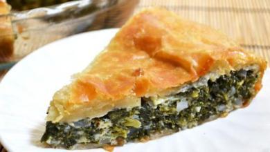 طريقة عمل فطيرة السبانخ بجبن الفيتا الشهية واللذيذة