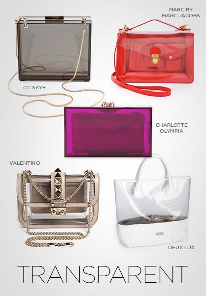 الحقائب الشفافة موضة ربيع وصيف 2013